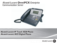 Picture of the Alcatel-Lucent 4028, 4028 Deskphone User Manual for the OXE