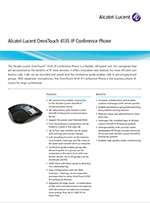 Picture of the Alcatel-Lucent 4139 conference phone brochure