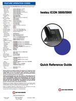 Picture of the Iwatsu ICON 5800 / 5900 Phones Quick Reference Guide