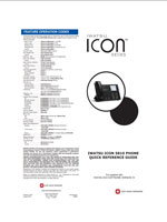 Picture of theIwatsu ICON Series 5810 Digital Phone Quick Reference Guide