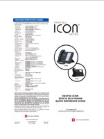 Picture of the Iwatsu ICON Series 5930 / 5910 Phones Quick Reference Guide