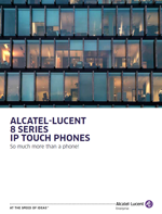 Picture of the Alcatel-Lucent 8 series IP Touch phone brochure