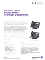 Picture of the alcatel-lucent 8029, 8038 deskphone brochure