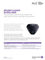 The Alcatel-Lucent 8105s EGO Conference Module brochure.