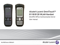 The Alcatel-Lucent 8118, 8128 WLAN Handset User Manual