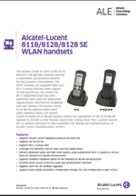 Picture of the alcatel-lucent 8118 WLAN handset brochure