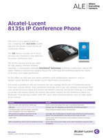 The Alcatel-Lucent 8135 Conference Phone Brochure