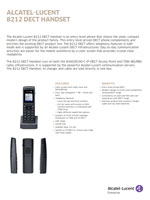Picture of  the Alcatel-Lucent 8212 DECT handset brochure.