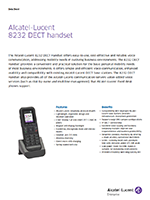 Picture of the Alcatel-Lucent 8232 DECT handset brochure