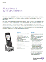 Picture of the Alcatel-Lucent 8242 DECT handset brochure.