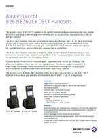 Picture of  the Alcatel-Lucent 8262 DECT handset brochure.