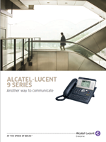 Picture of the Alcatel-Lucent 9 series deskphone brochure