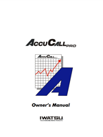 Picture of the Iwatsu AccuCall Pro User Manual