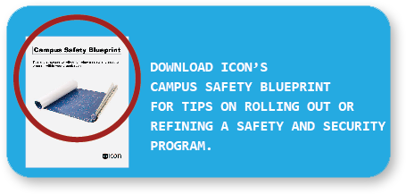 Call to action asking users to download a campus safety blueprint