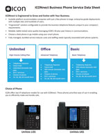 Picture of the ICONnect Business phone service brochure