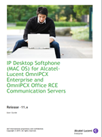 Picture of the Alcatel-Lucent IP Desktop Softphone for Mac OS User Manual