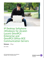 Picture of the Alcatel-Lucent IP Desktop Softphone for Microsoft Windows User Manual