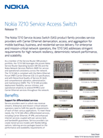 Picture of the Nokia 7210-SAS Brochure