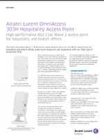 The Alcatel-Lucent OmniAccess 303h brochure.