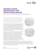 Picture of the alcatel-lucent OmniAccess 320 series access points brochure