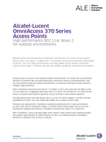 Picture of the alcatel-lucent omniaccess 370 series brochure