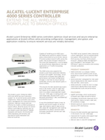 Picture of the alcatel-lucent OmniAccess 4000 series controller brochure