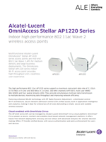 The Alcatel-Lucent OmniAccess Stellar AP1220 series brochure.