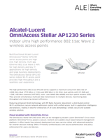 Picture of the OmniAccess Stellar AP1230 series brochure