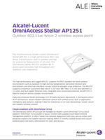 The Alcatel-Lucent OmniAccess Stellar AP1251 access point brochure.