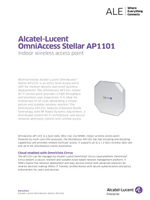 Picture of the alcatel-lucent OmniAccess Stellar AP1101 access point brochure