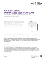 The Alcatel-Lucent OmniAccess Stellar AP1201 access point brochure.