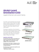Picture of the OmniSwitch 6350 brochure