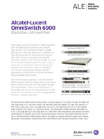 Picture of the alcatel-lucent OmniSwitch 6900 brochure