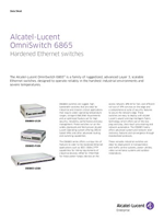 Picture of the Alcatel-Lucent OmniSwitch 6865 brochure.