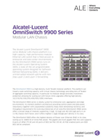 The Alcatel-Lucent OmniSwitch 9900 brochure.