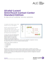 The Alcatel-Lucent OmniTouch Contact Center brochure.