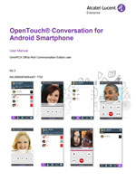 Picture of the OpenTouch Conversation for Android Smartphone User Manual