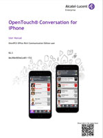 Picture of the OpenTouch Conversation for iPhone Smartphone User Manual