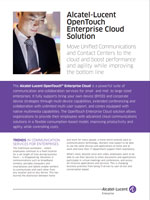 Picture of theOpenTouch Enterprise Cloud Solution Brochure.