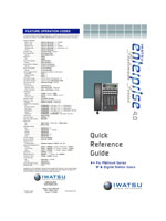 Picture of the Iwatsu Platinum Series Twelve Button IP & Digital Station Quick Reference Guide