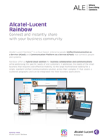 alcatel-lucent rainbow solution sheet brochure