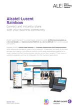 The Alcatel-Lucent Rainbow solution sheet brochure.
