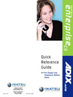 Picture of the Iwatsu Single Line Telephone Quick Reference Guide
