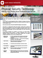 Picture of the ICON video surveillance and facilities security brochure