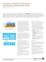 Picture of the Alcatel-Lucent VitalSuite Advanced Reporting Tool Brochure.