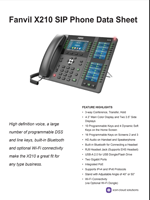 The X210 IP Phone Data Sheet